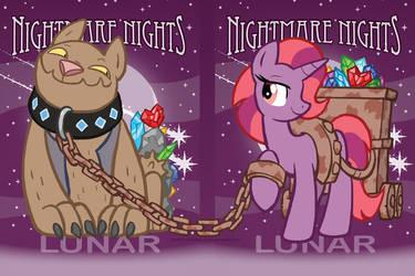 Nightmare Nights 2014 Lunar Badges by joeartguy