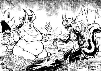 Demon Picnic by joeartguy