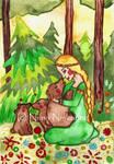 Mielikki and the bears by fairychamber