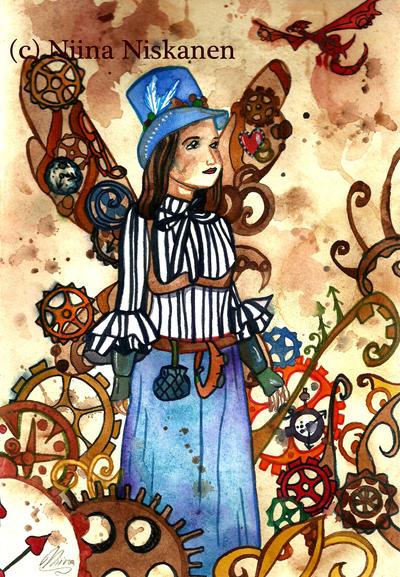 Steampunk Fairy by fairychamber