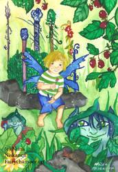 Six of wands / Fairy Tarot by fairychamber