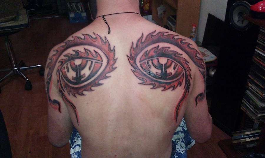 10,000 Days Eyes Tattoo by Spiral0utKeepGoing