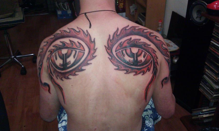 10,000 Days Eyes Tattoo by Spiral0utKeepGoing