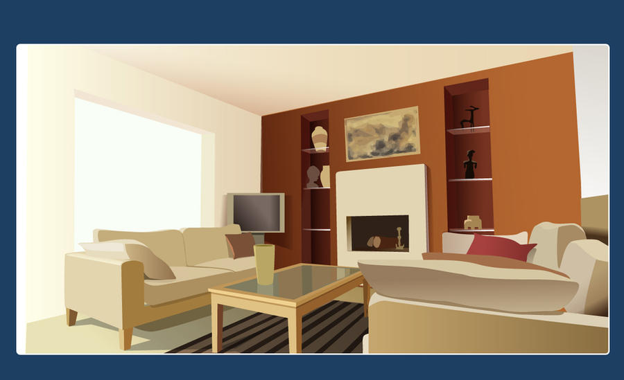 Vector interior design by neofotistou on deviantart for Room design vector