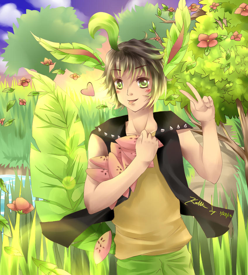 Leafeon Pokemon Gijinka by Kathleneee on DeviantArt