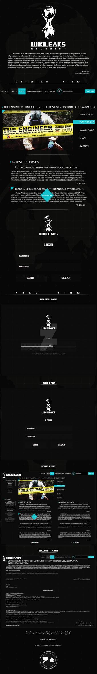 WikiLeaks Redesign by Qubsik