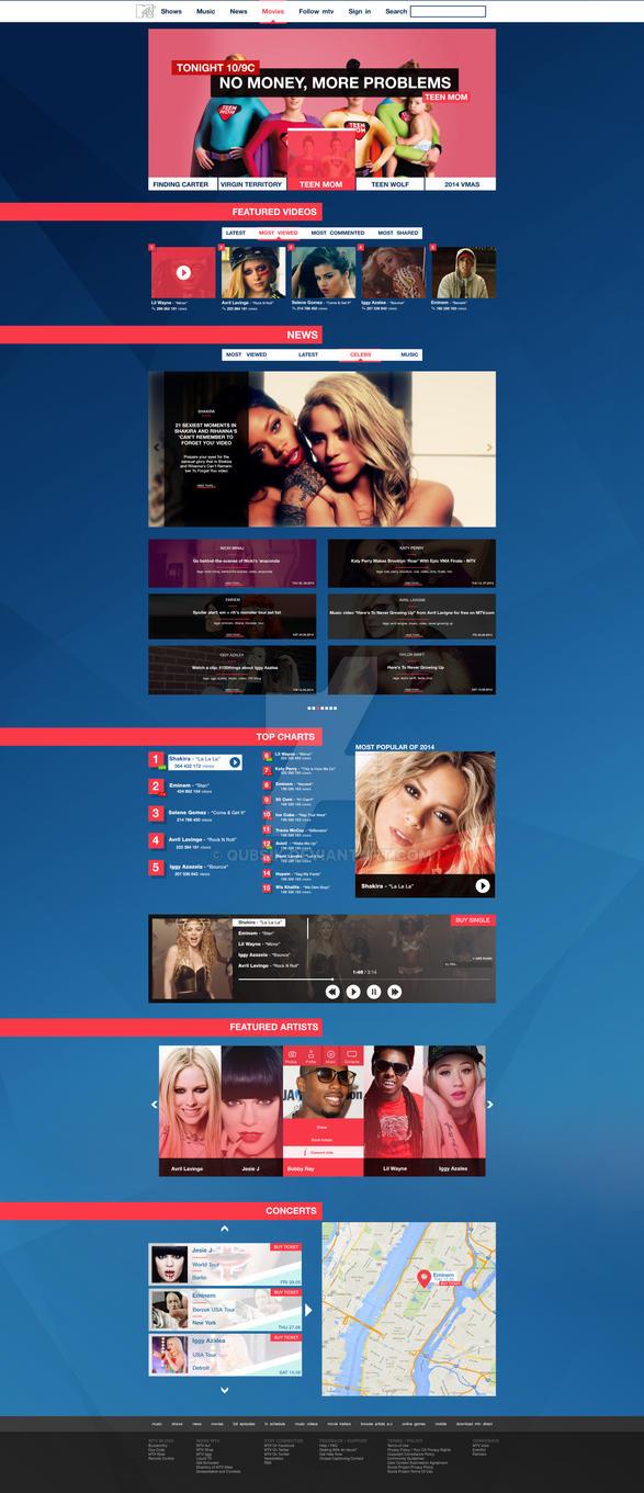 MTV.COM REDESIGN by Qubsik