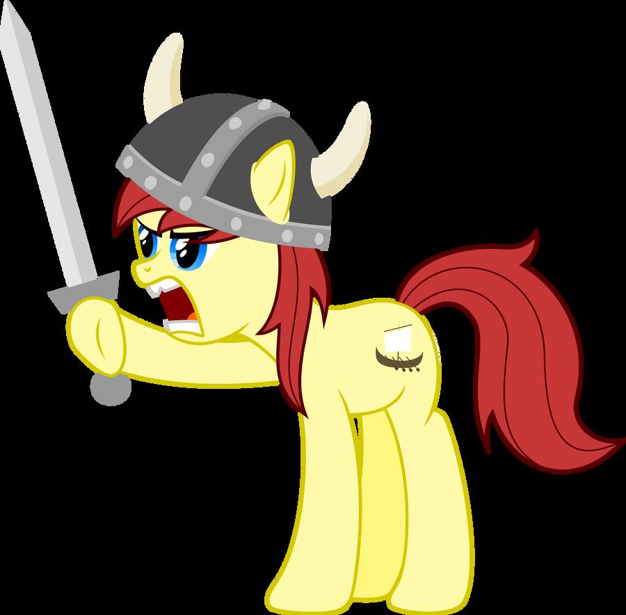 angry viking pony by zeppony on deviantart