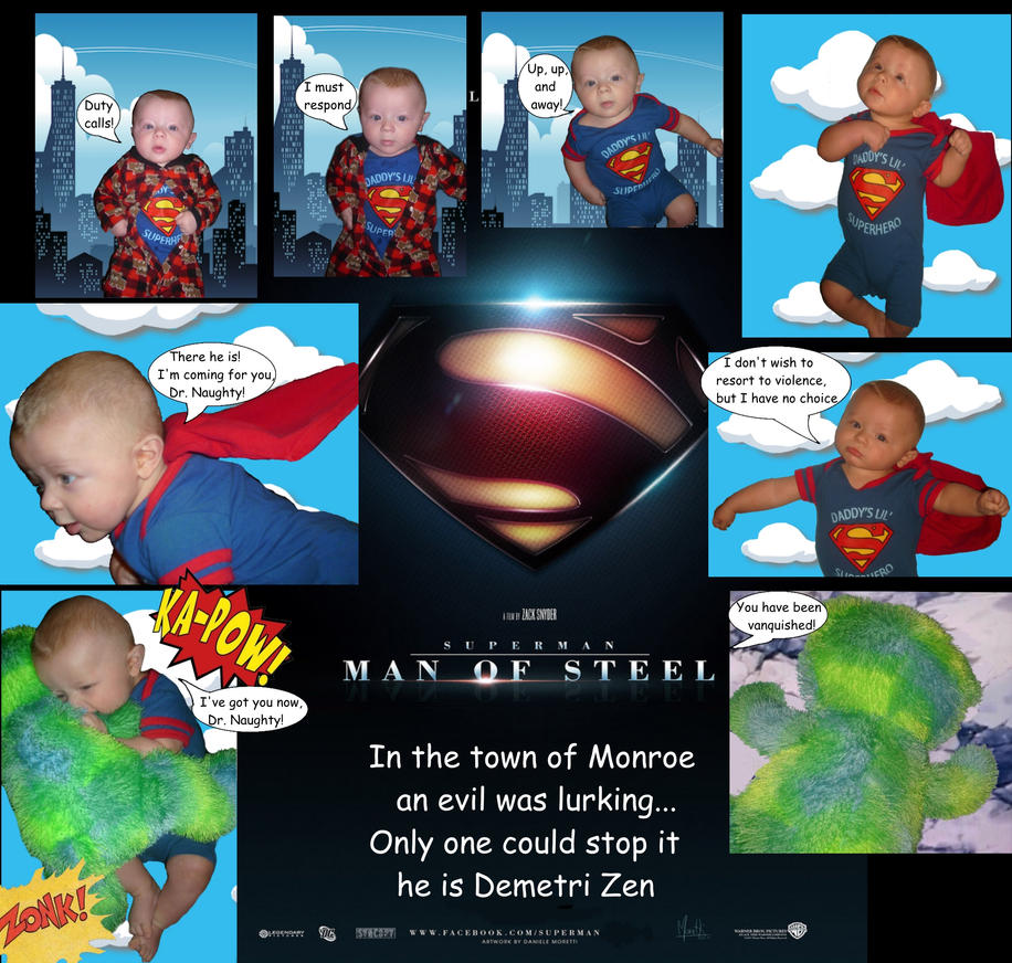 My baby the super hero by lonely-in-winter