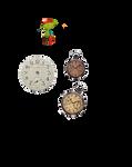 Vintage clock 2 png