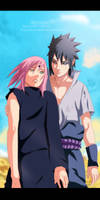 Naruto 685 - Sakura and Sasuke Color
