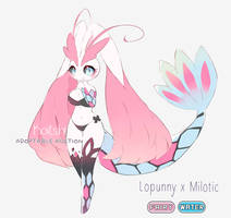[ OPEN AUCTION ] Adoptable - Lopunny x Milotic by Koitshi