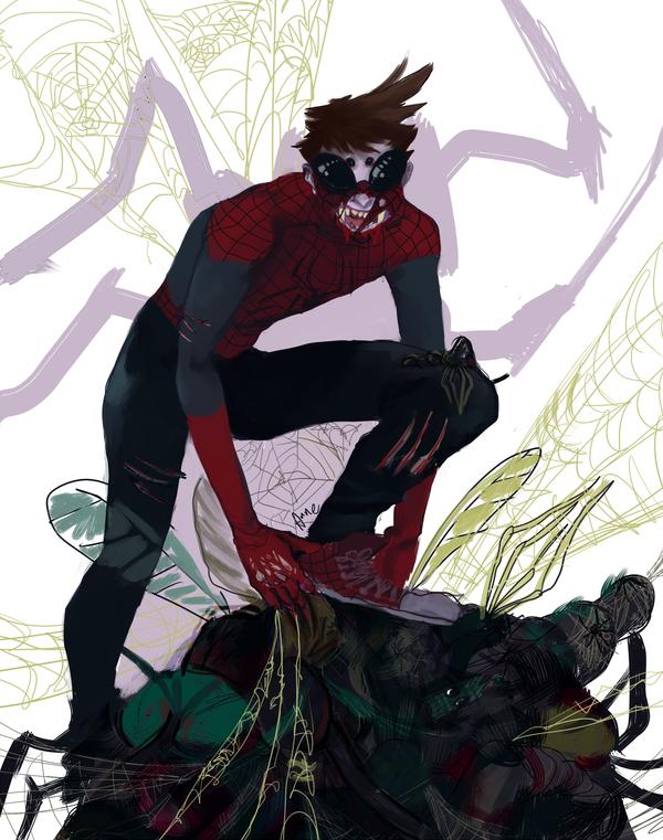 Spider-man by ApplebeeJuice