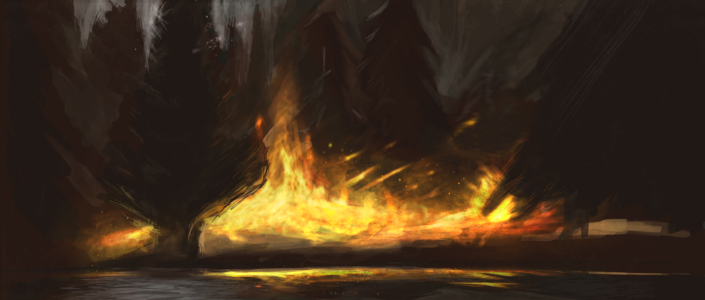 Forest Fire by Ellcryss on DeviantArt