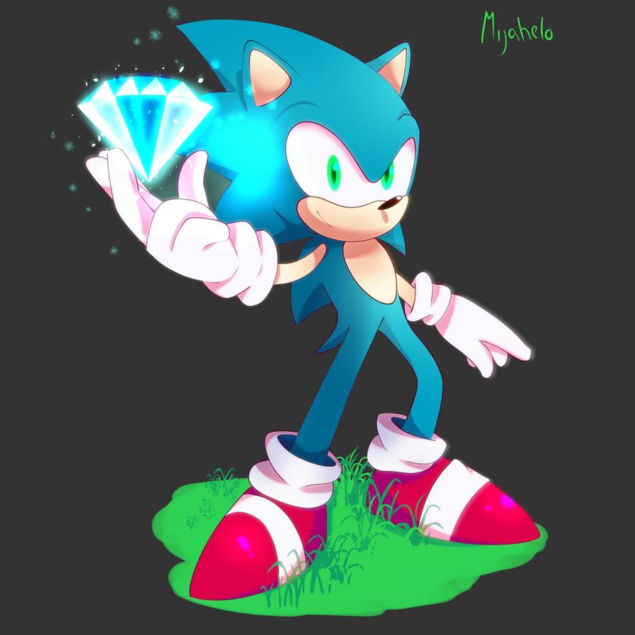 SSB4 - Sonic Victory Pose by M1j4h3l0