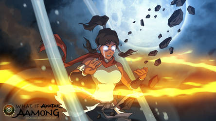 Aamong: Korra entered the Avatar State