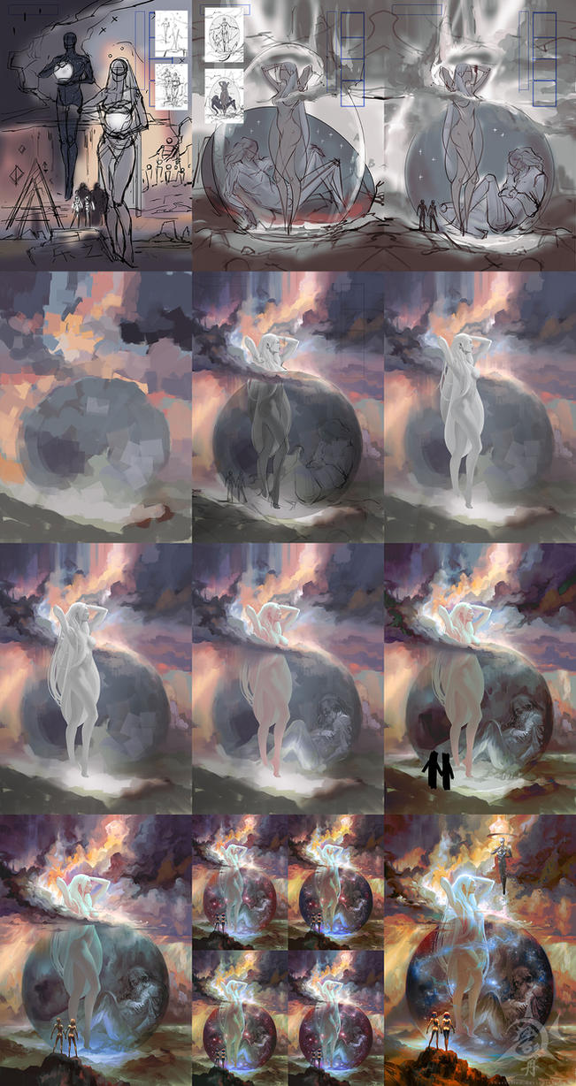 Cover Process of 'Mother Earth Father Sky' by SharksDen