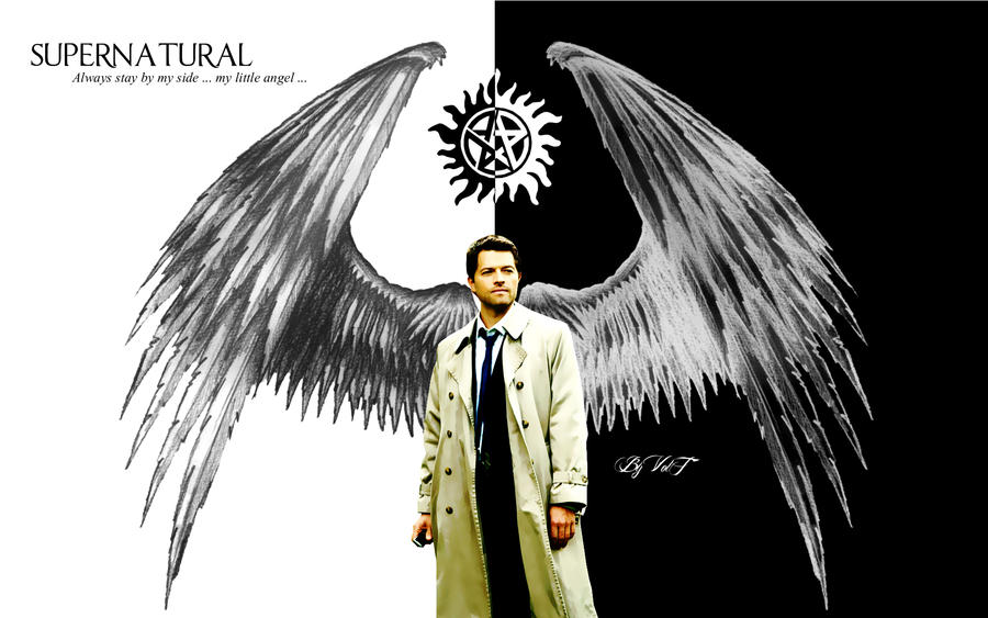 castiel wallpaper by dvoltb on deviantart