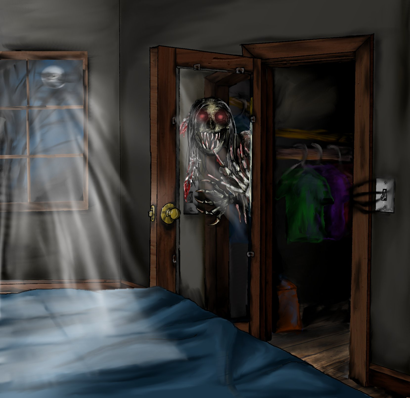 monster in my bedroom closet by ravenescence on deviantart