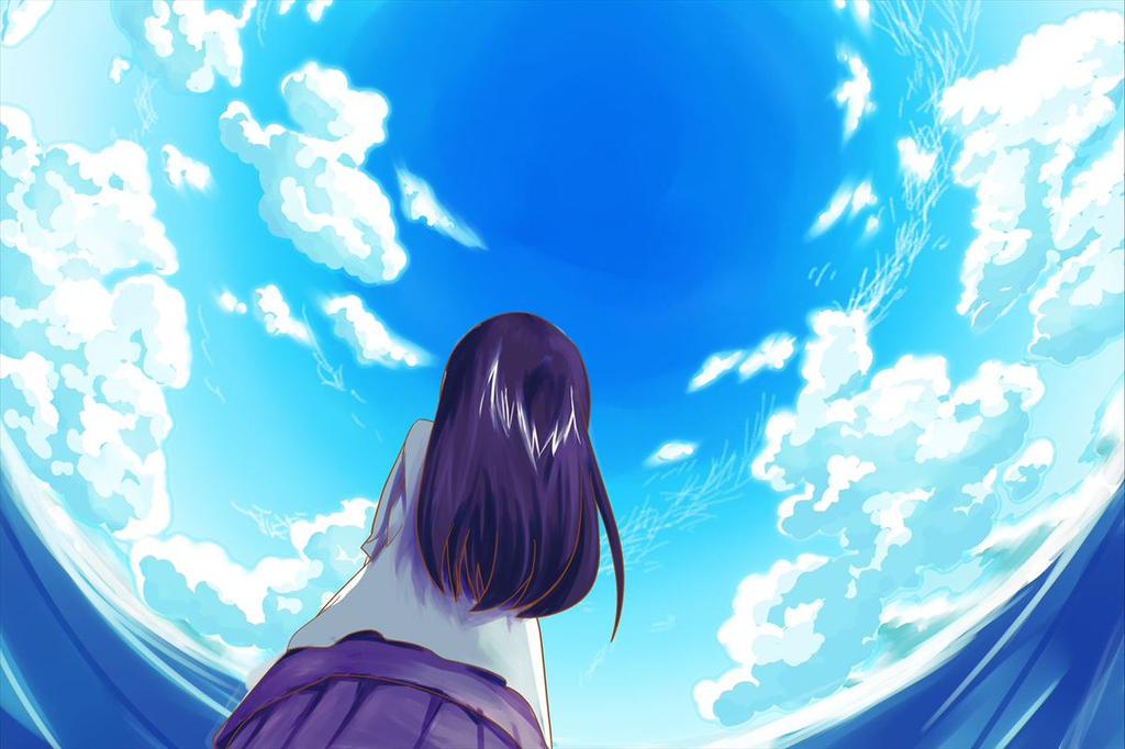 A Girl Looking Up The Sky By TakutoNakano On DeviantArt