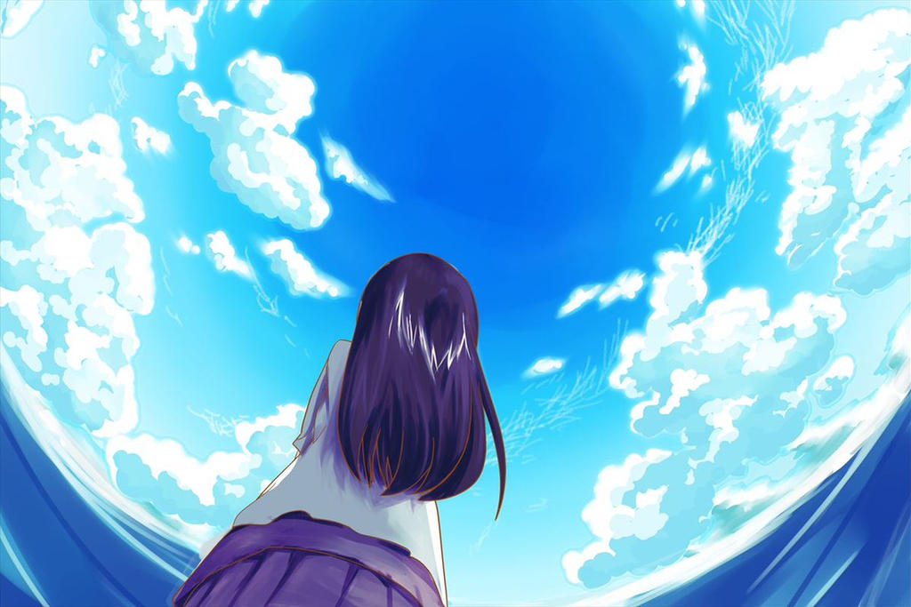 A Girl Looking Up The Sky By Takutonakano On Deviantart