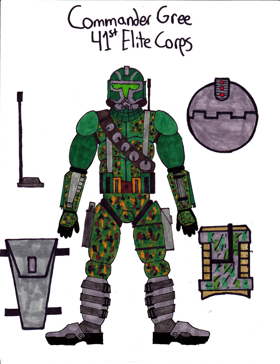 clone commander gree coloring pages - photo#24