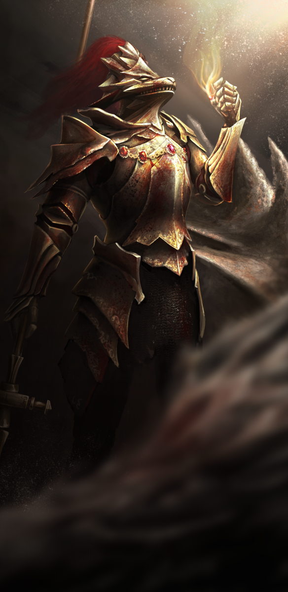 Dragon Slayer Ornstein by HQ-Kamissar