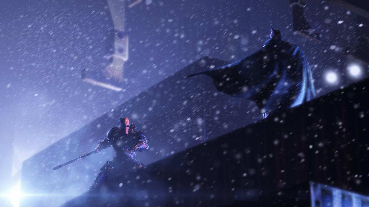 Deathstroke vs. Batman by Rammkap