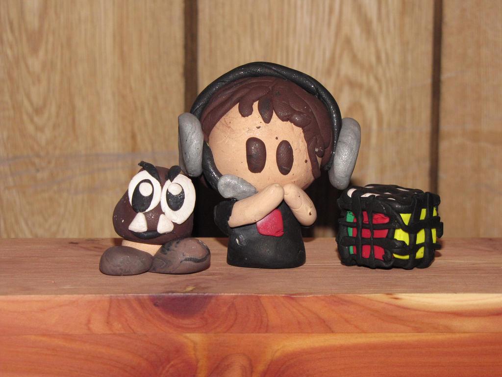HomelessGoomba Fan-made Clay Figurines! by JordanVenturian