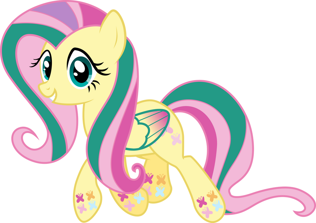 Rainbow Power Fluttershy by Drakizora on DeviantArt