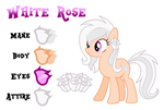 White Rose Reference by Drakizora
