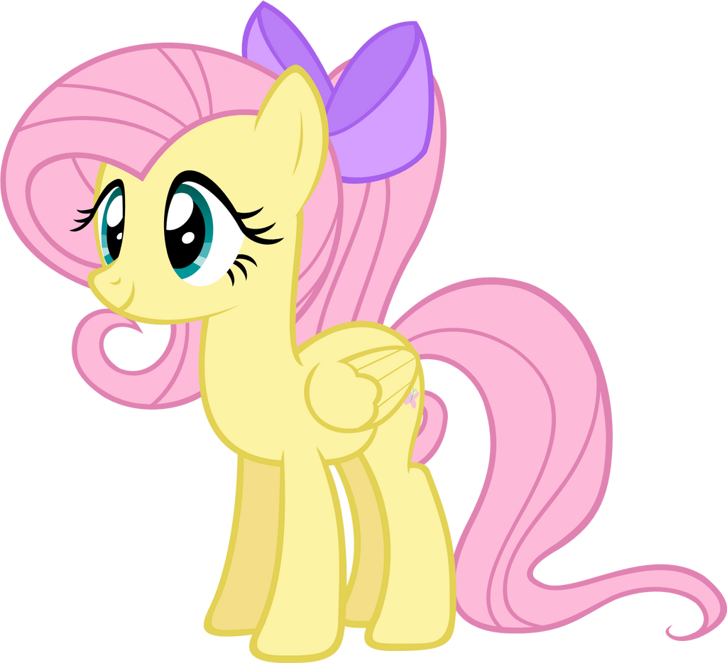 fluttershy with ponytail by zacatron94 on deviantart