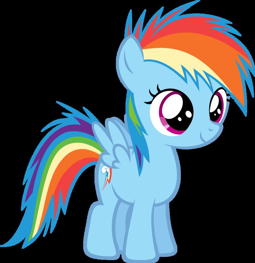 Filly Rainbow Dash by Zacatron94 on DeviantArt