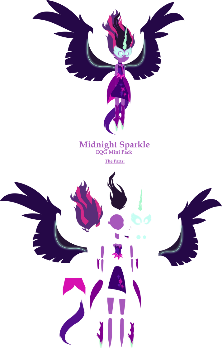 Midnight Sparkle - Mini Pack [Commission] by Zacatron94