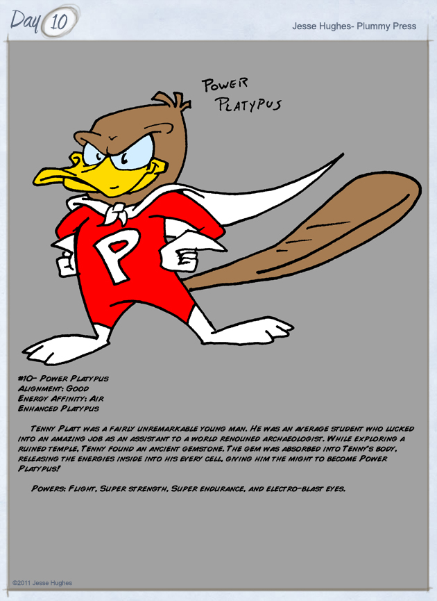 Day 10- Power Platypus by PlummyPress