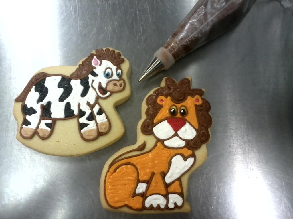 Zebra N Lion Cookies by PlummyPress