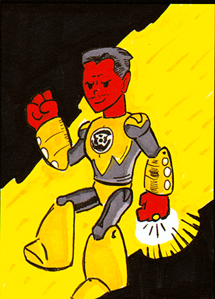 PlummysPals Sketchcard- Sinestro by PlummyPress