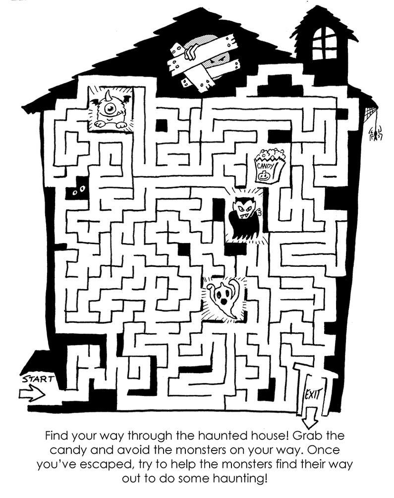 Haunted House Maze 325766994 on Pre Worksheet Artist