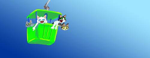 Sky Ride Cats by PlummyPress