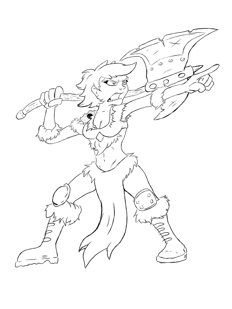 Claw Tribe Barbarian lines by PlummyPress