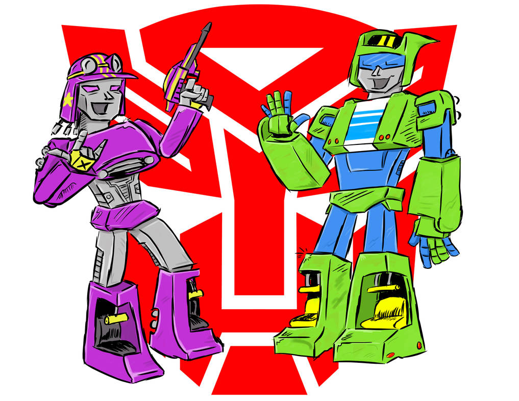 Autobots Airtime and Overbank by PlummyPress