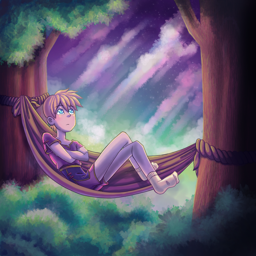 Lounging Boy by AllNamesAreClaimed12