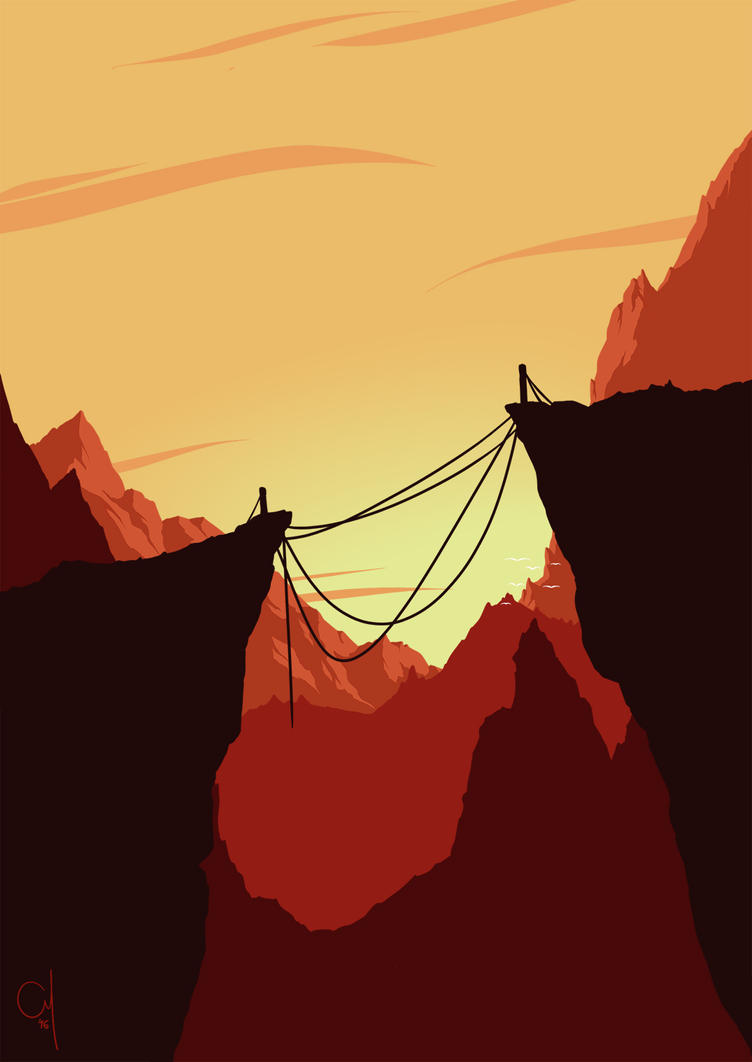 Hanging Bridge by OGARart