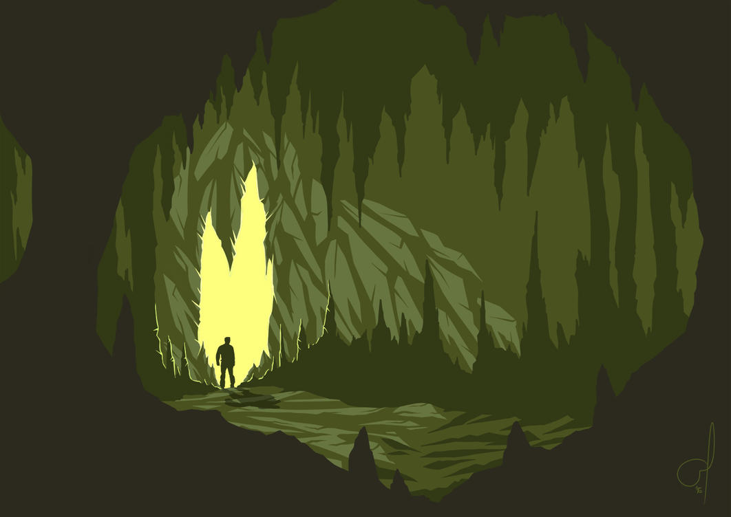 Cave by OGARart