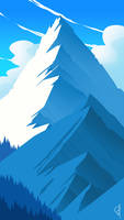 Snowy Mountains by OGARart