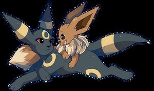 Umbreon and Eevee