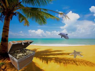 PREMADE Treasure Island Background by Charmedstar07