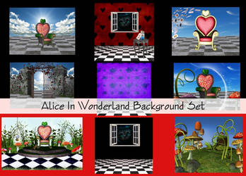 Alice In wonderland Backgrounds by Charmedstar07