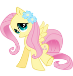 Fluttershy with flowers