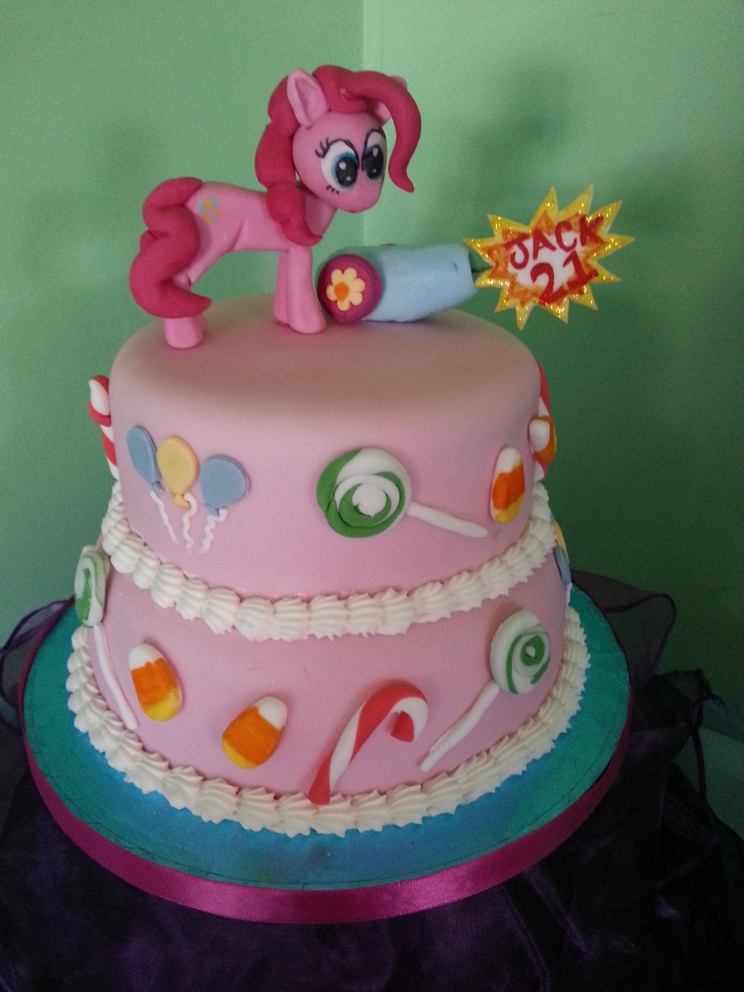Birthday Cake Images With Name Pinky : Pinkie Pie Cake by SpikesMustache on DeviantArt